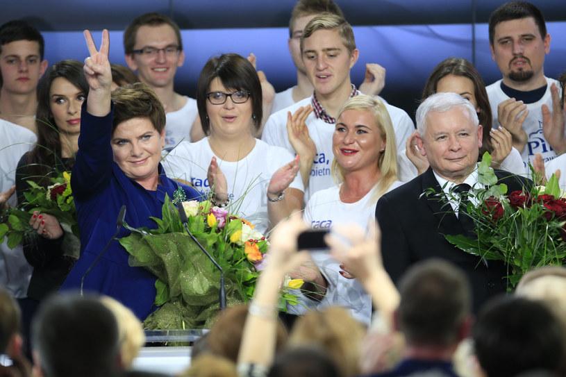 Wieczór wyborczy PiS (25.10.2015) /fot. Andrzej Iwanczuk/REPORTER /Reporter