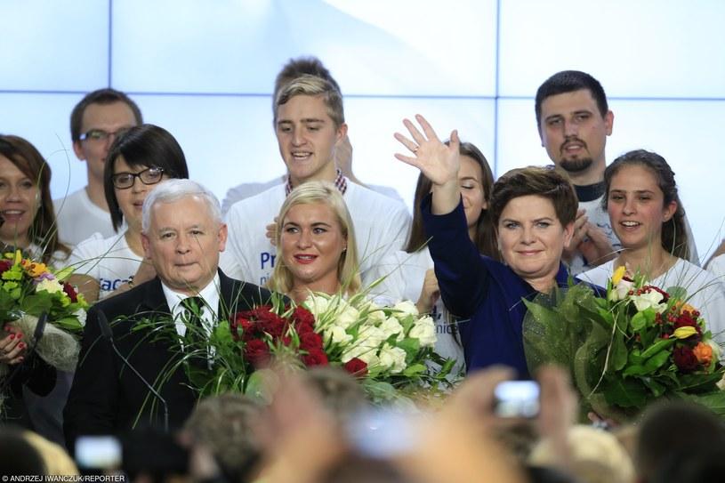 Wieczór wyborczy Prawa i Sprawiedliwości /Andrzej Iwańczuk/Reporter /East News