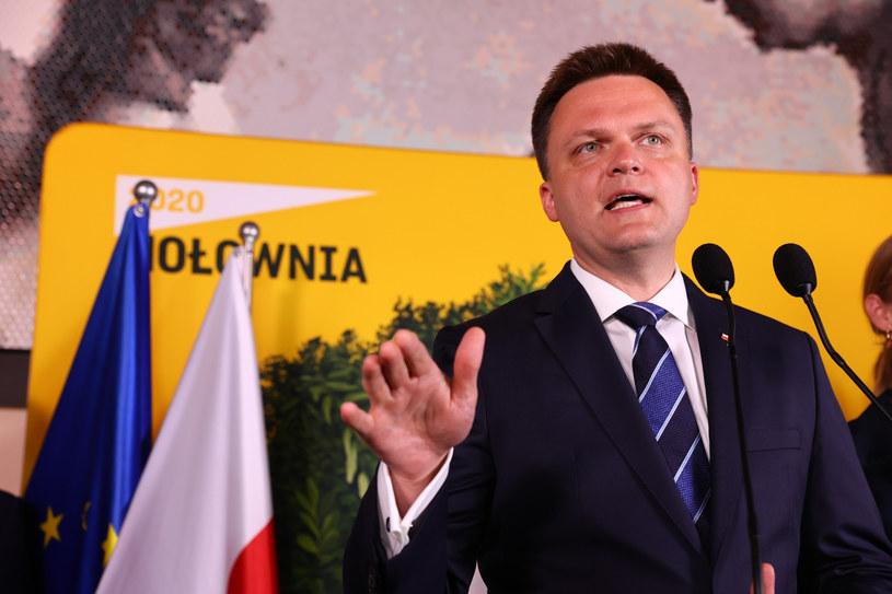 Wieczór wyborczy Szymona Hołowni /Rafal Gaglewski /Reporter