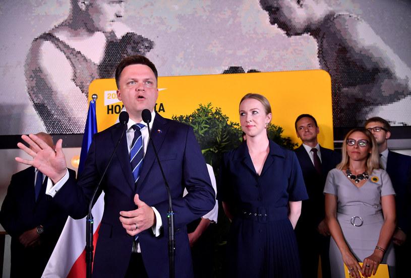 wieczór wyborczy Szymona Hołowni /Mateusz Jagielski /East News