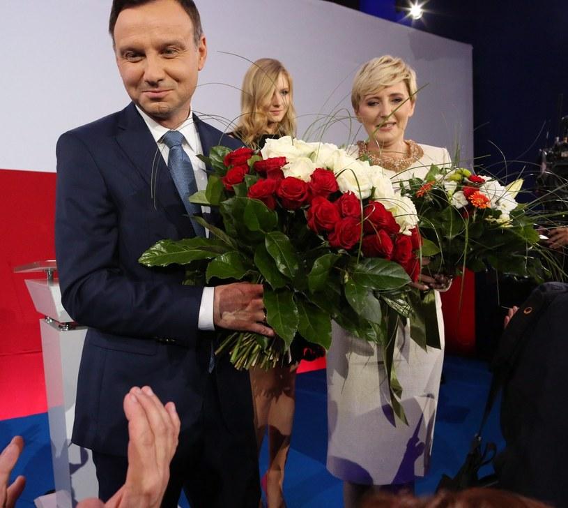 Wieczór wyborczy w siedzibie PiS /Agata Grzybowska  /