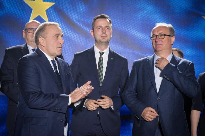 Wieczór wyborczy w sztabie Koalicji Europejskiej /Jacek Domiński /Reporter