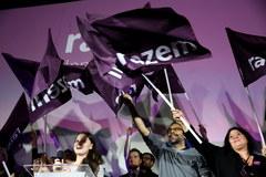 Wieczór wyborczy w sztabie partii Razem