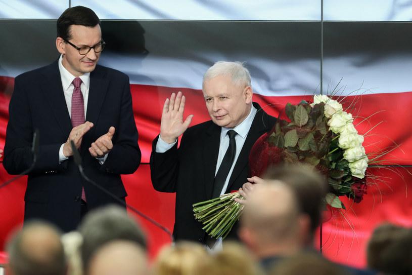 Wieczór wyborczy w sztabie PiS /fot. Andrzej Iwanczuk /Reporter