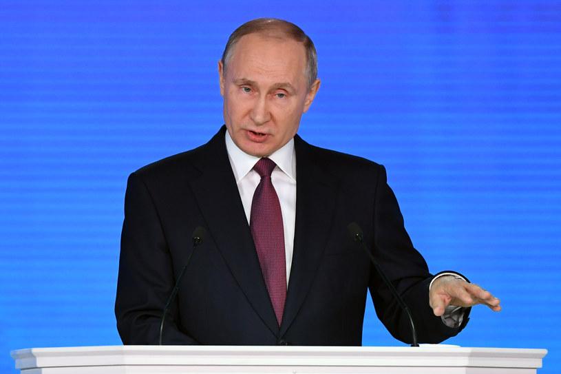 """""""Wiedomosti"""": Militaryzm w orędziu Władimira Putina przerósł mowy przywódców Związku Sowieckiego /Yuri Kadobnov /AFP"""