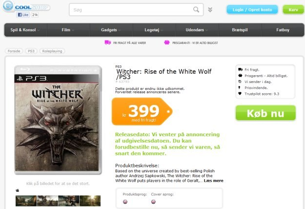 Wiedźmin: Powrót Białego Wilka w ofercie sklepu Cool Shop /Informacja prasowa
