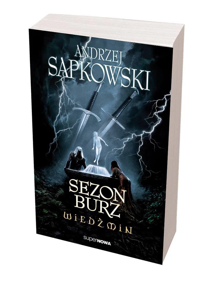 Wiedźmin: Sezon burz - okładka nowej powieści A. Sapkowskiego /materiały prasowe