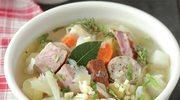 Wiejska zupa z boczkiem