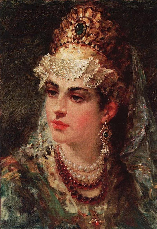 Wiele kobiet tej epoki znanych jest tylko z wyobrażeń artystów tworzących w XVIII lub XIX wieku. Powyżej późny portret żony Włodzimierza Wielkiego, Anny Porfirogenetki, żyjącej w tych samych latach. Jej prawdziwe oblicze też skrywa tajemnica. /Ciekawostki Historyczne