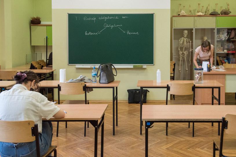 Wiele szkół postawiło na relacje i integrację. W innych od razu odbywają się zajęcia lekcyjne /Tadeusz Koniarz /Reporter