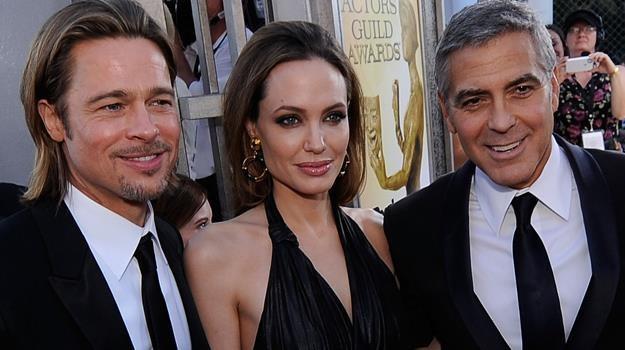 """""""Wielebny"""" George Clooney udzieli ślubu Bradowi Pittowi i Angelinie Jolie? / fot. Kevork Djansezian /Getty Images/Flash Press Media"""