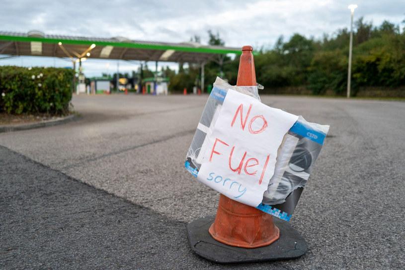 Wielka Brytania. Na stacjach paliw nie ma czym tankować /Matthew Horwood/Getty Images /Getty Images