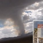 Wielka chmura w kształcie grzyba nad Strefą 51
