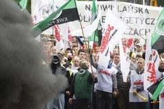 Wielka, górnicza manifestacja w Katowicach