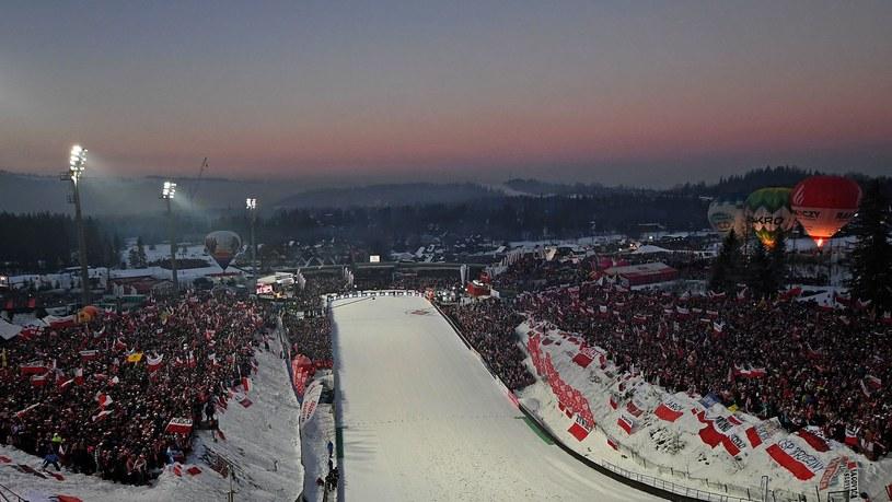 Wielka Krokiew podczas konkursu Pucharu Świata w skokach narciarskich /AFP