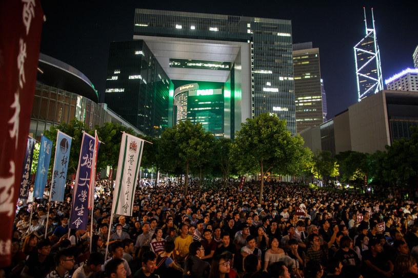 Wielka manifestacja w Hongkongu /AFP