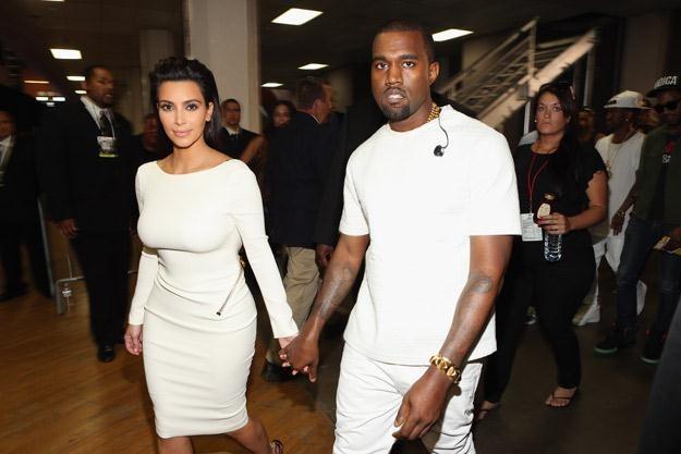Wielka miłość: Kanye West z Kim Kardashian - fot. Christopher Polk /Getty Images/Flash Press Media