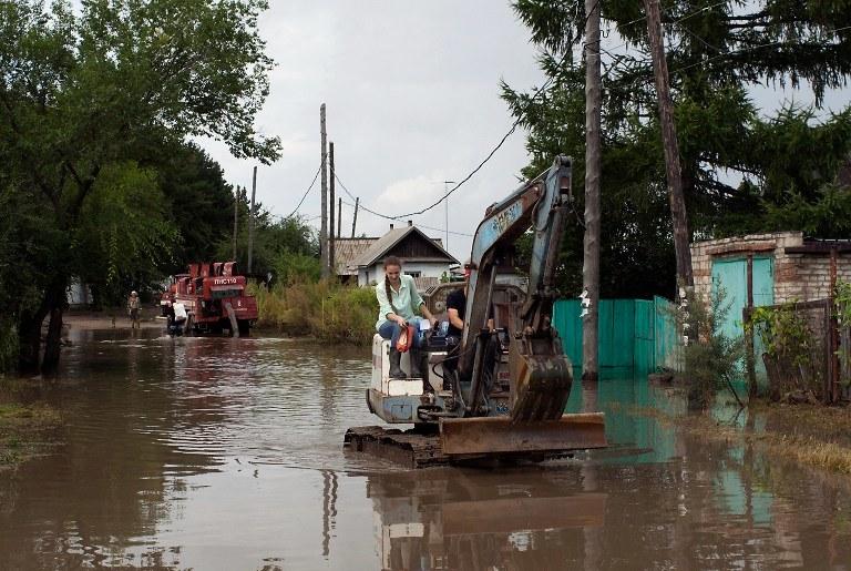 Wielka powódź w Rosji /AFP