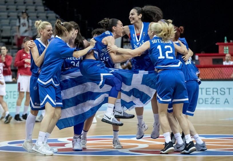 Wielka radość greckich koszykarek /PAP/EPA