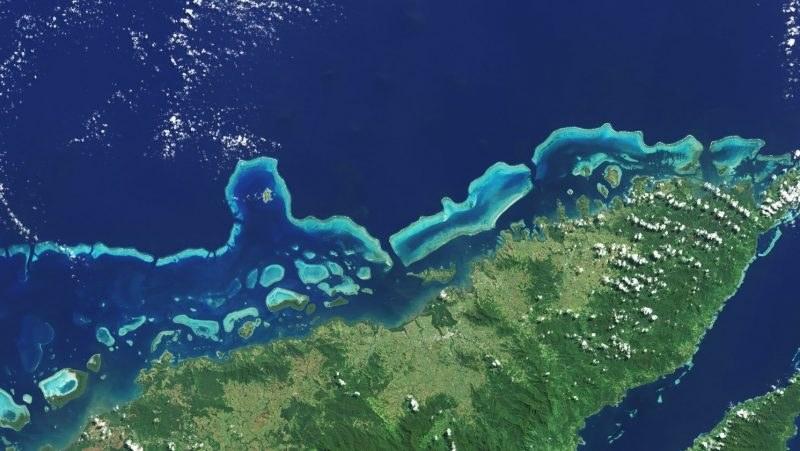 Wielka Rafa Koralowa widziana z kosmosu /materiały prasowe