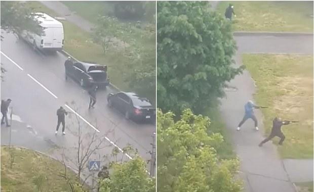 Wielka strzelanina z udziałem 100 ludzi pod Kijowem. Trwają zbiorowe zatrzymania [WIDEO]