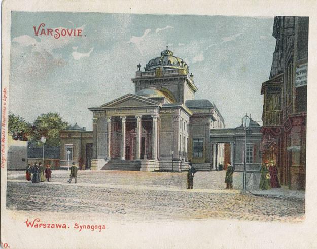 Wielka Synagoga w Warszawie około roku 1900 /Agencja FORUM