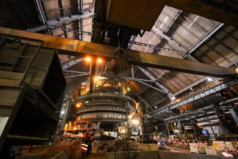 Wielki Piec nr 5 w hucie ArcelorMittal w Krakowie był remontowany w 2016 roku /Jan Graczyński /East News