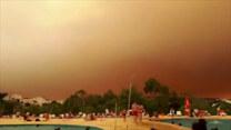 Wielki pożar w Algarve w Portugalii