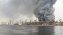 """Wielki pożar w Rosji. Płonie historyczna fabryka """"Nevskaya"""" w Sankt Petersburgu"""