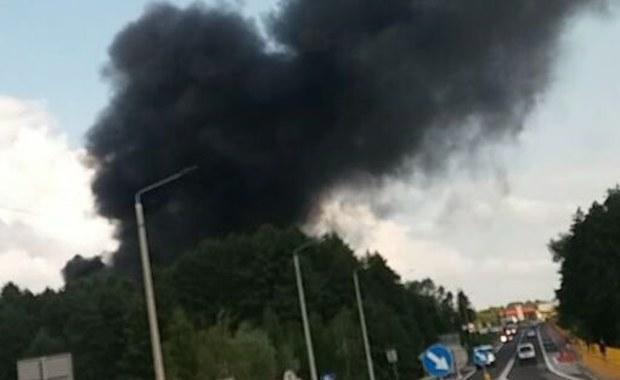 Wielki pożar w Stopnicy. Dym widać z daleka