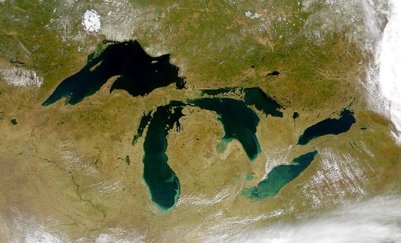 Wielkie Jeziora w Ameryce Północnej - zdjęcie satelitarne /NASA