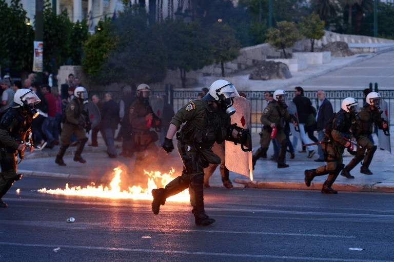 Wielkie protesty w Grecji /LOUISA GOULIAMAKI / AFP /AFP