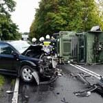 Wielkopolska: Wypadek samochodu amerykańskiej armii. Są ranni