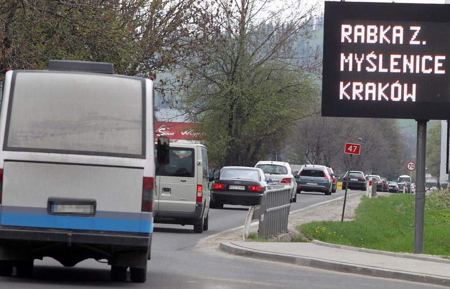 Wielokilometrowe korki utrudniały Polakom powroty z majówki /Grzegorz Momot /PAP