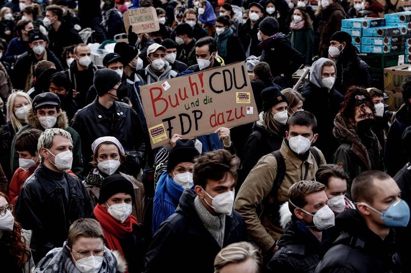 Wielotysięczna manifestacja w Berlinie /FILIP SINGER /PAP/EPA