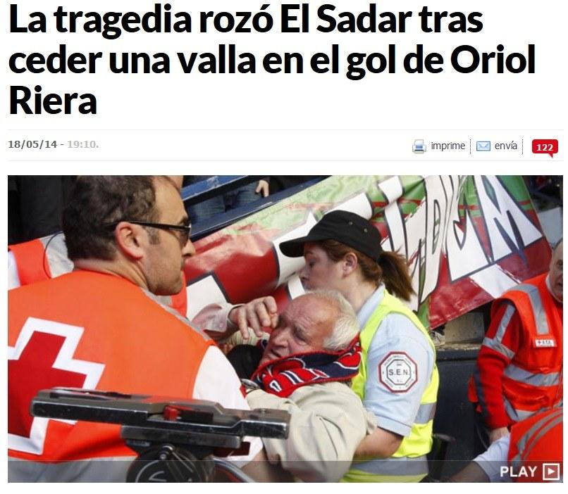 Wielu kibiców zostało rannych. Fot MARCA.com /INTERIA.PL