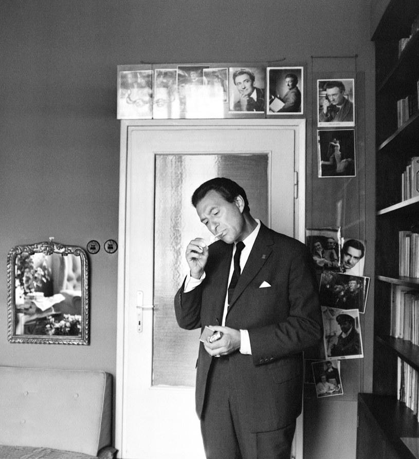 Wieńczysław Gliński w swoim mieszkaniu w 1964 roku /Janusz Sobolewski /Agencja FORUM
