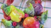 Wieniec z owocami z masy solnej