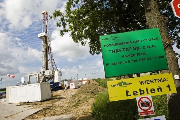 Wiertnia gazu łupkowego w miejscowości Łebień. Fot. Łukasz Ostalski /Reporter
