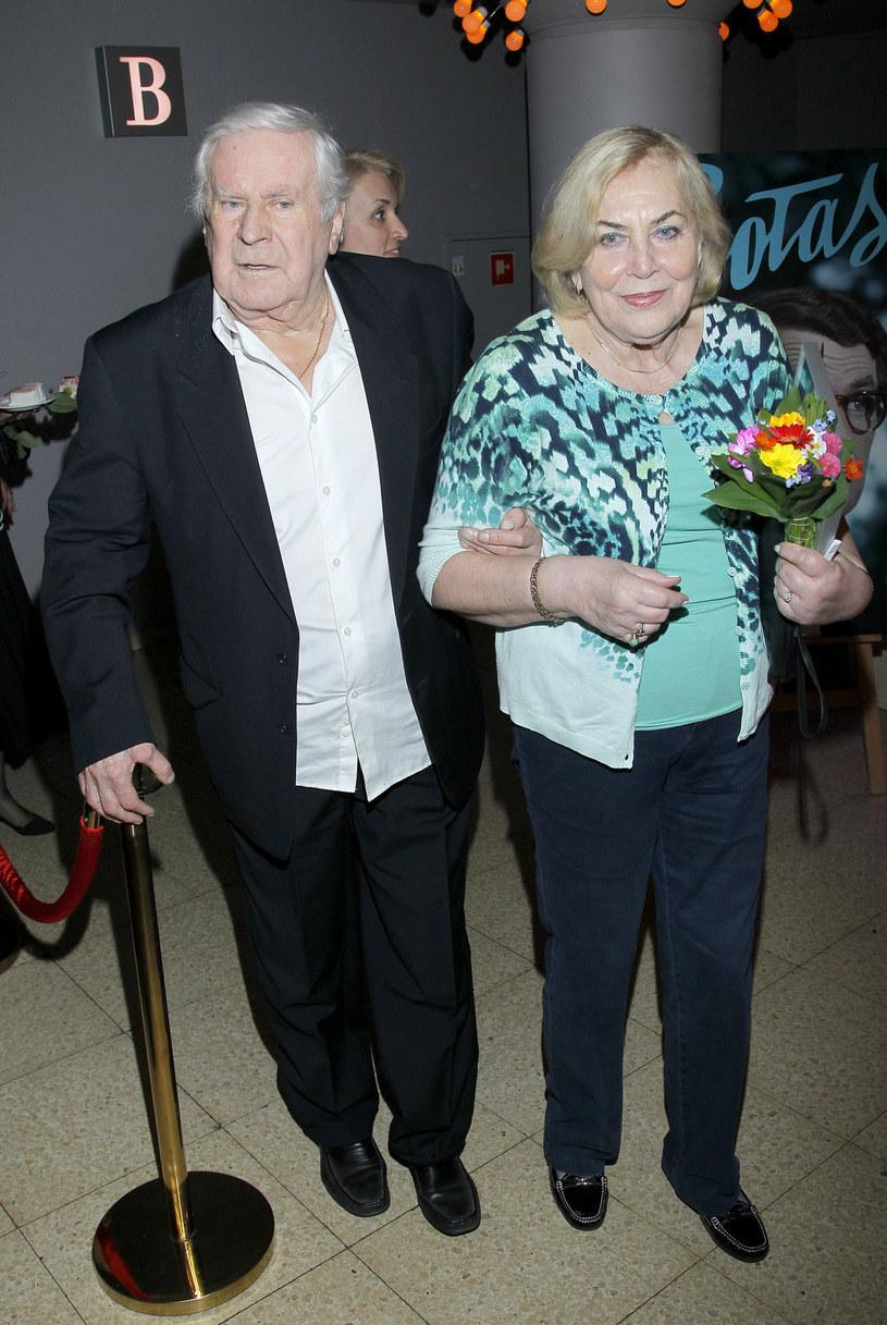 Wiesław Gołas z żoną /Jordan Krzemiński /AKPA