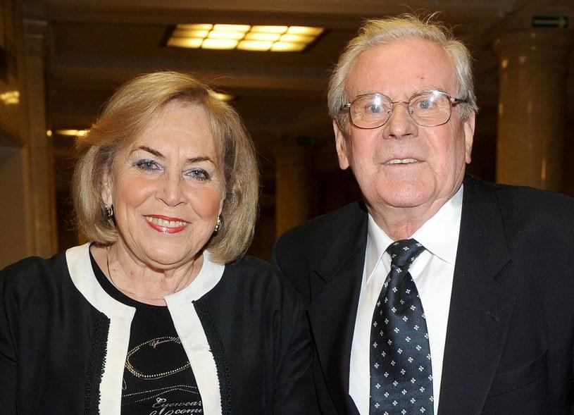 Wiesław Gołas z żoną /AIM