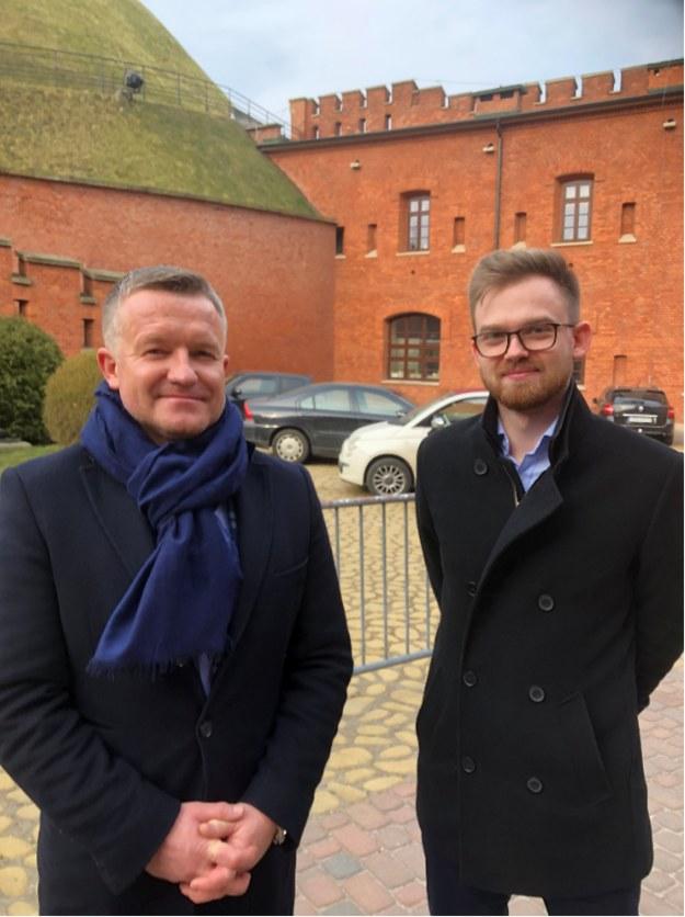 Wiesław Hałucha (po lewej) i  Paweł Smoleń /RMF FM