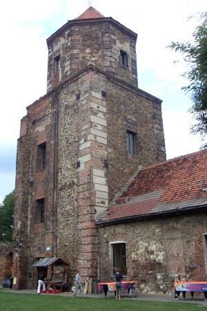 Wieża toszeckiego zamku. Fot. Autor /Odkrywca /Odkrywca