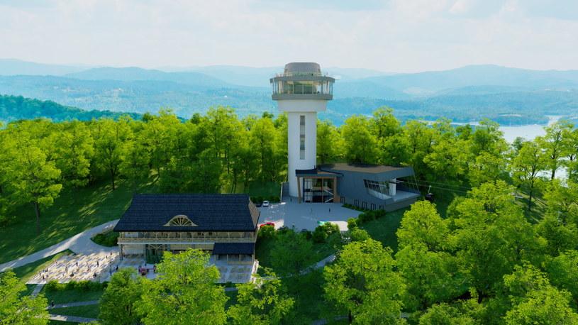 Wieża widokowa pozwoli na spojrzenie na efektowne krajobrazy Soliny z nowej perspektywy /materiały prasowe