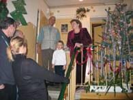 Wigilia na klatce schodowej ma swój urok /RMF