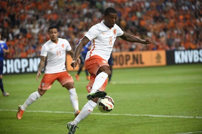 Wijnaldum w barwach reprezentacji Holandii /AFP