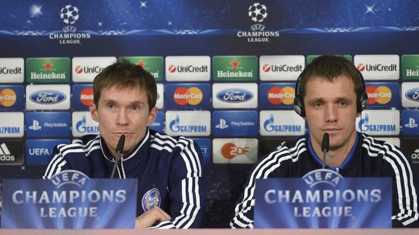 Wiktor Gonczarenko (z prawej) jako trener BATE Borysów /AFP