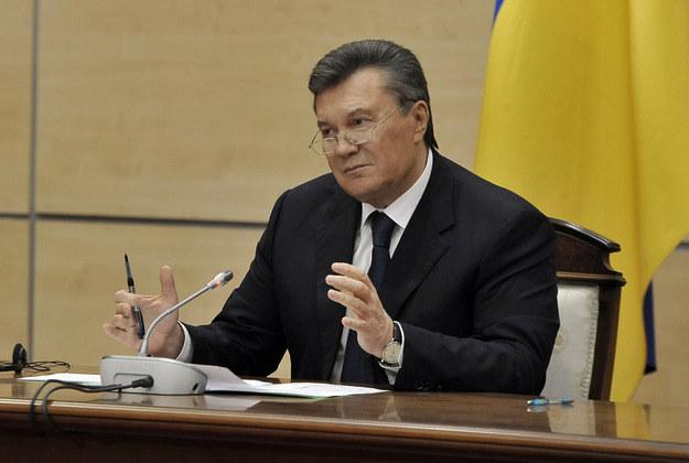 Wiktor Janukowycz był na pogrzebie tragicznie zmarłego syna /AFP