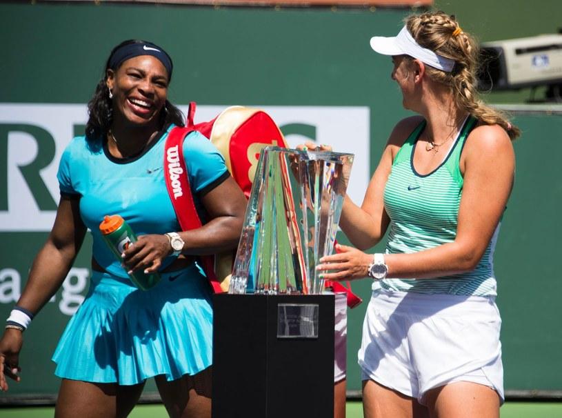Wiktoria Azarenka (z prawej) i Serena Williams /AFP