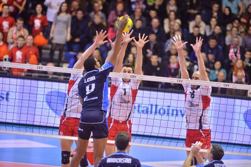 Wilfredo Leon w meczu z Biełogorie Biełgorod /www.cev.eu